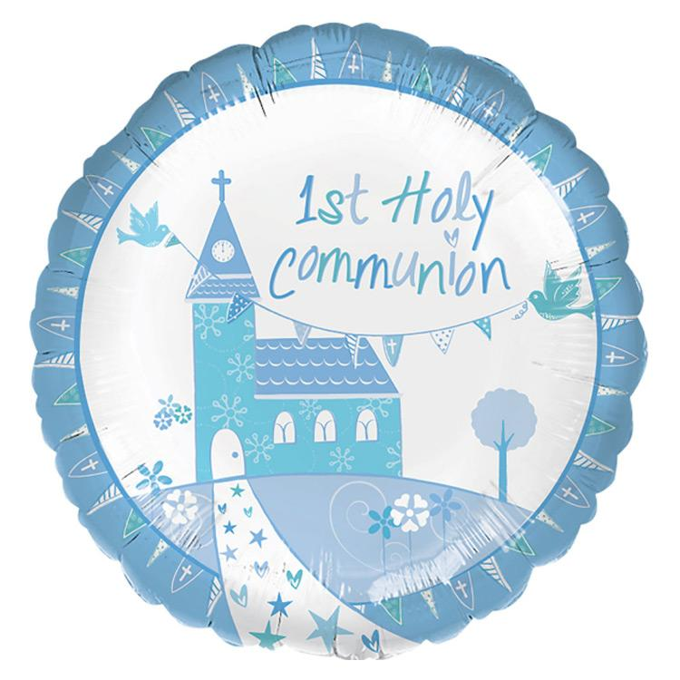 First Communion Helium Balloon - Blue