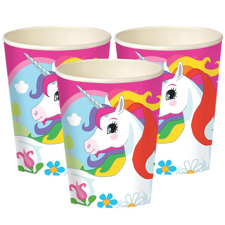Mythical Unicorn Paper Cups (x8)