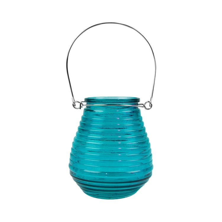 Hanging Candle Lantern Blue