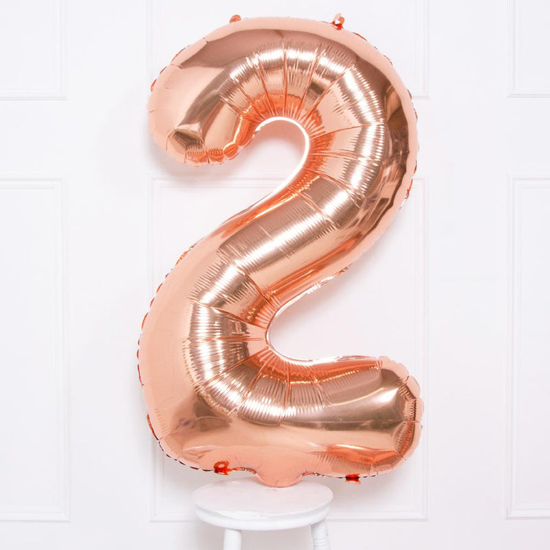 Supershape Rose Gold Helium Balloon Number 2