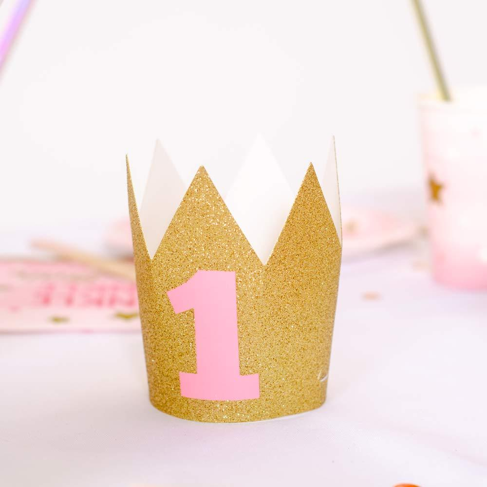 Glitter Mini Crown - Gold
