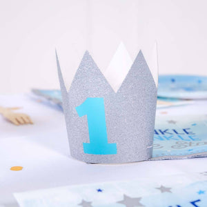Glitter Mini Crown - Silver