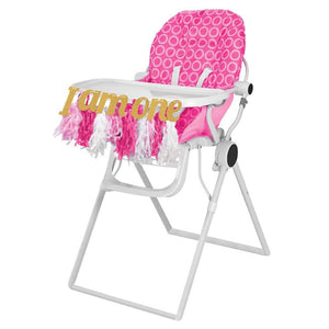 High Chair Tassel Garland - Pink