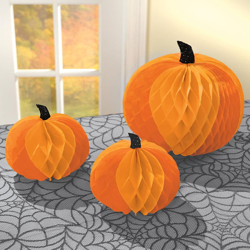 Halloween Pumpkin Honeycomb Decorations