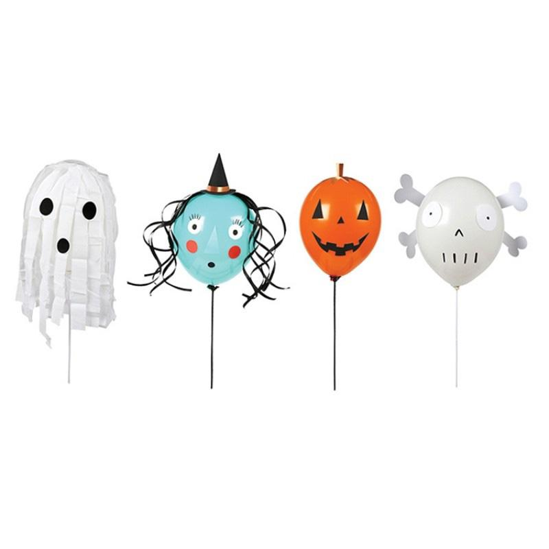 Halloween Character Party Balloons (x4)