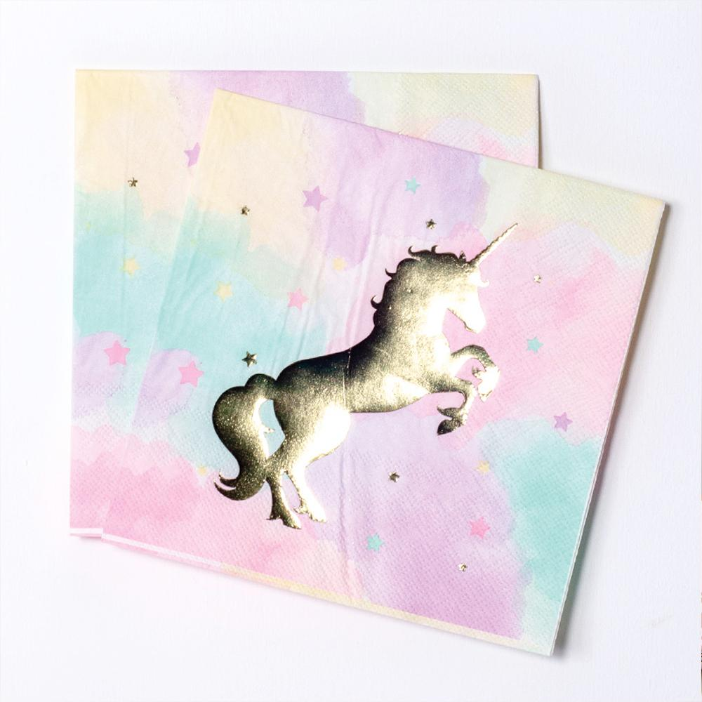 Unicorn Sparkle Party Napkins (x16)