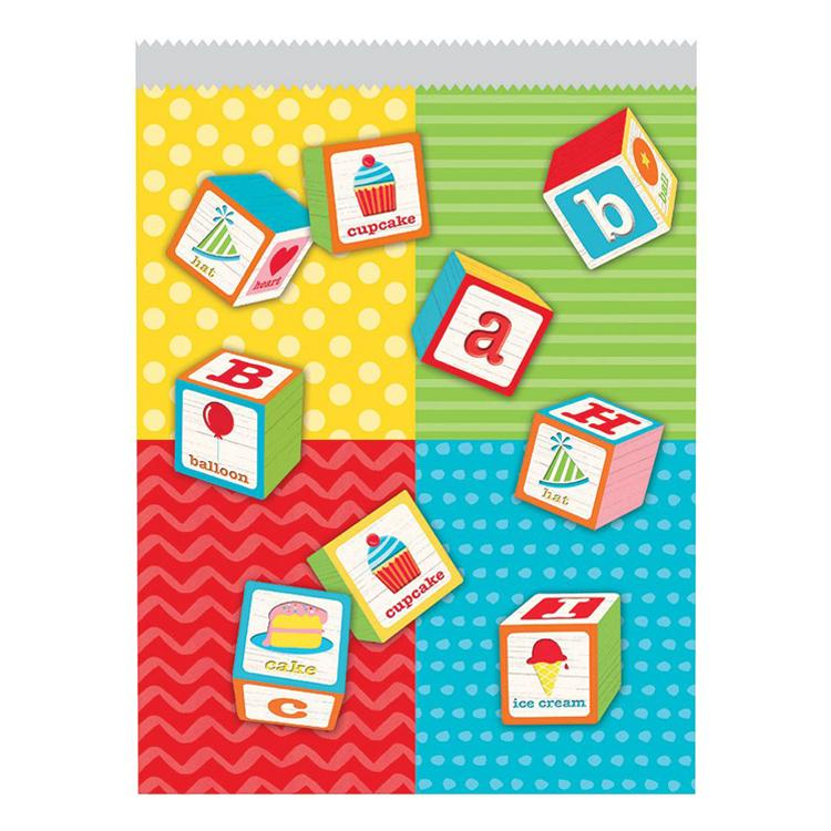 ABC Birthday Paper Party Bags (x10)