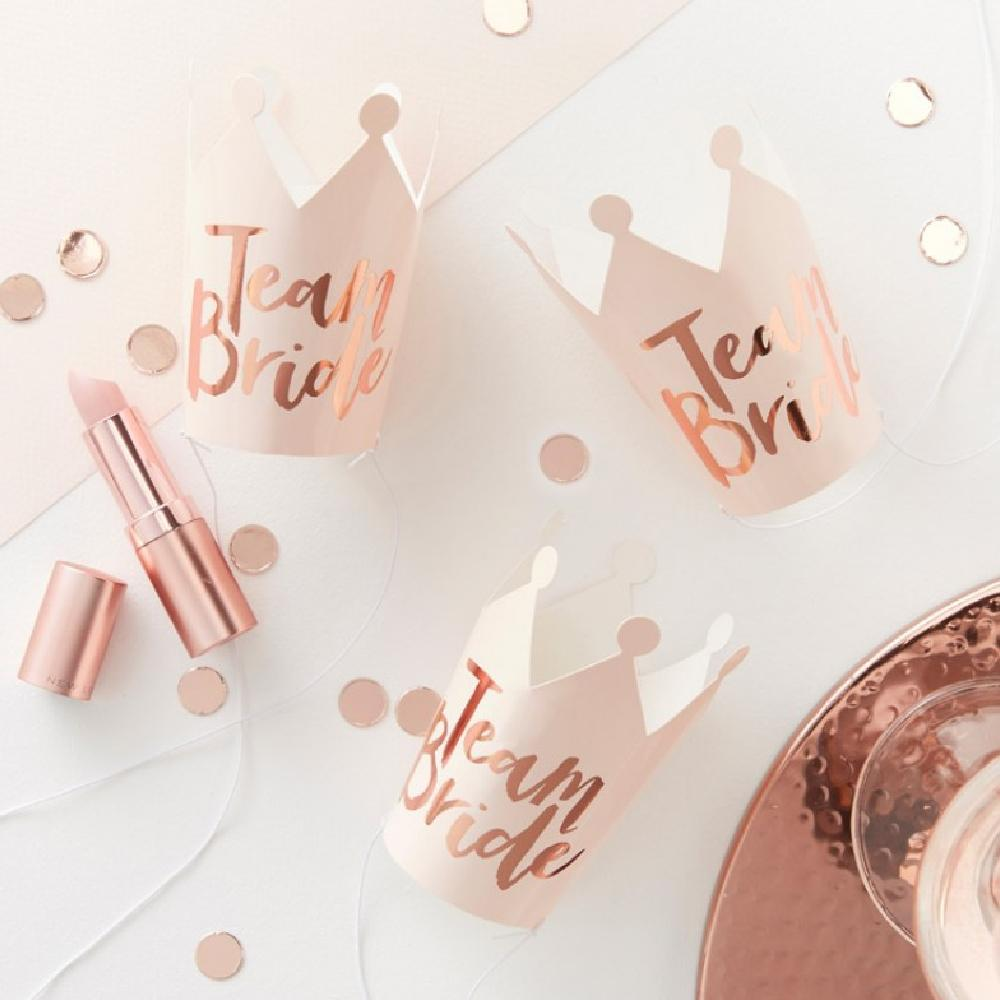 Team Bride Hen Party Crowns (x5)