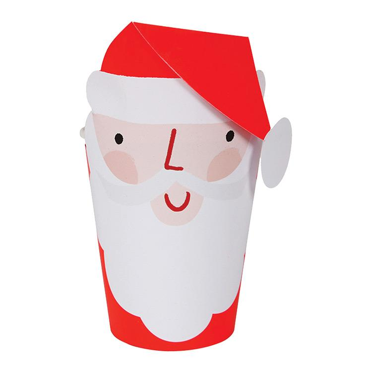 Santa Face Party Cups (x8)