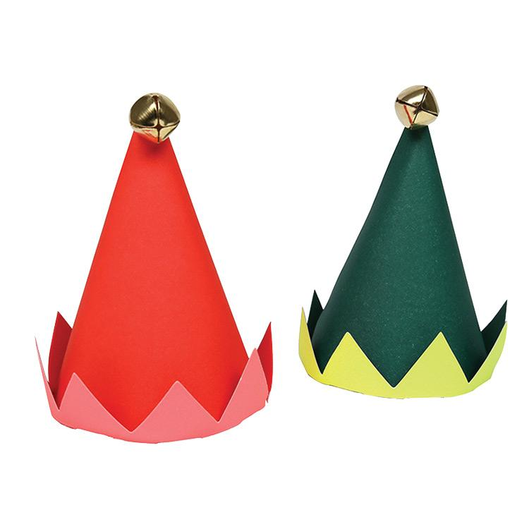 Mini Elf Party Hats (x8)