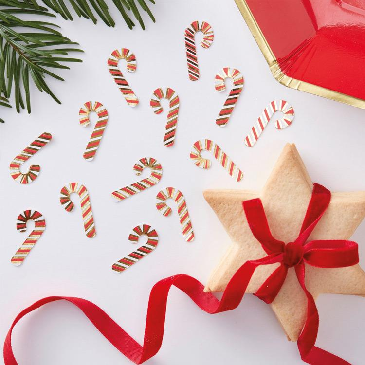 Candy Cane Table Confetti