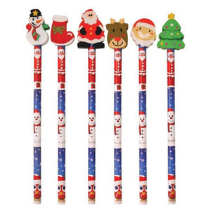 Christmas Pencil with Topper (x2)