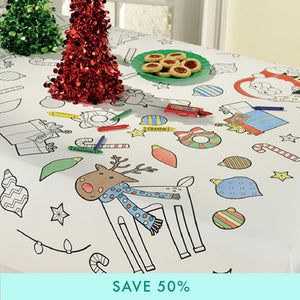 Colour In Christmas Paper Table Cover