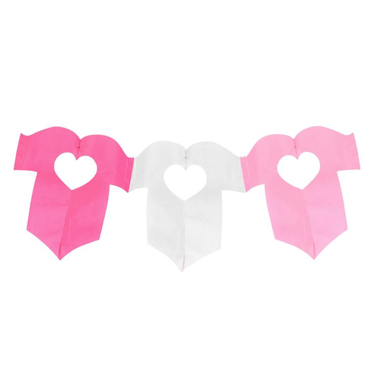 Baby Garland Party Decoration Pink