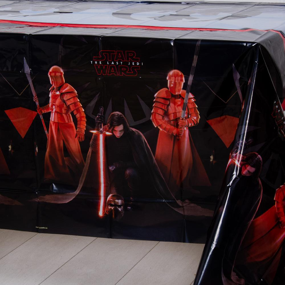A star wars party table cover featuring the first order