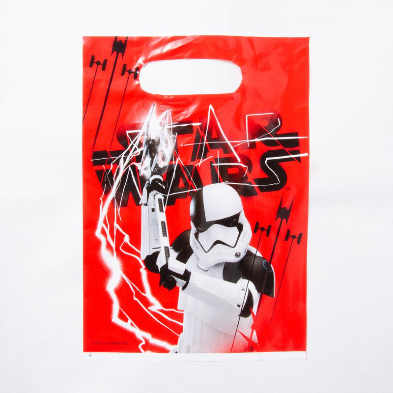 A star wars-themed party bag featuring a first order stormtrooper design