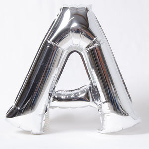 "Air-Fill Silver 16"" Letter Party Balloon A"