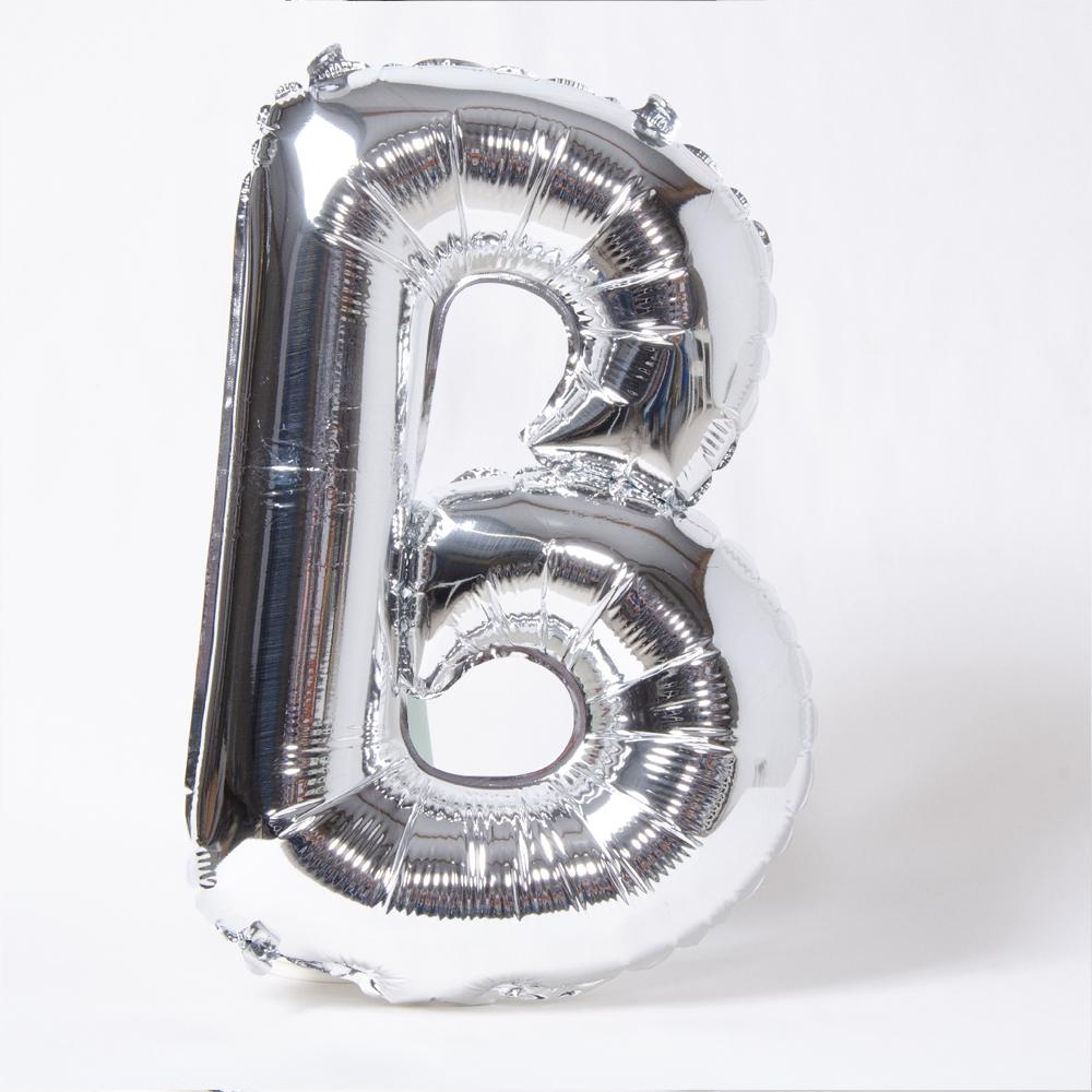 Silver Letter Party Balloon B