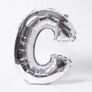 Silver Letter Party Balloon C