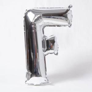 Silver Letter Party Balloon F