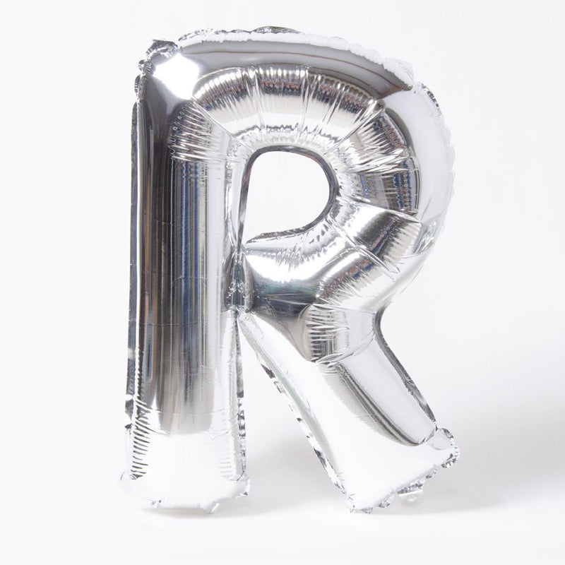 Silver Letter Party Balloon R