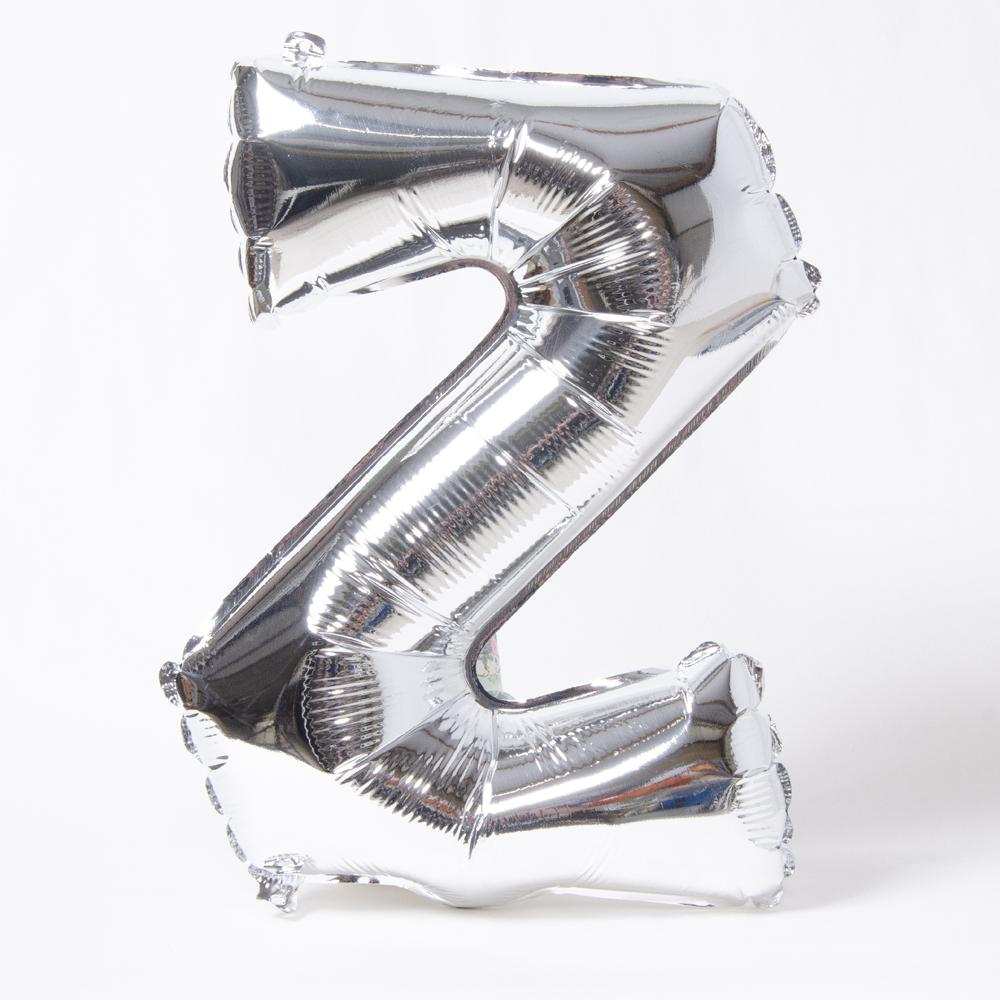 Silver Letter Party Balloon Z