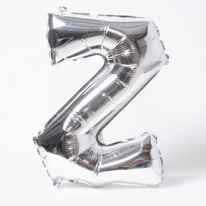 "Air-Fill Silver 16"" Letter Party Balloon Z"