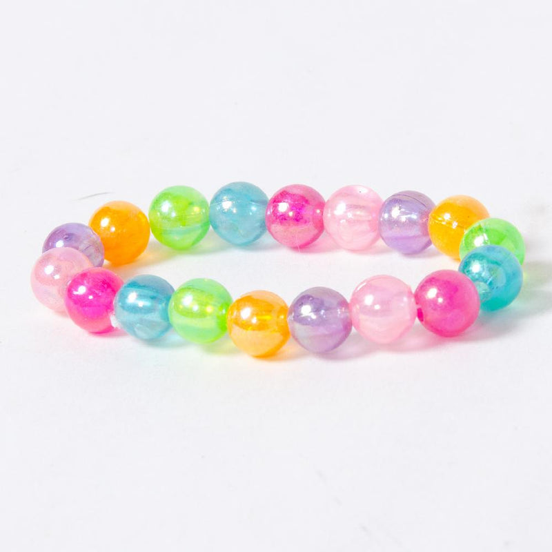 A colourful crystal bracelet with lots of shiny beads
