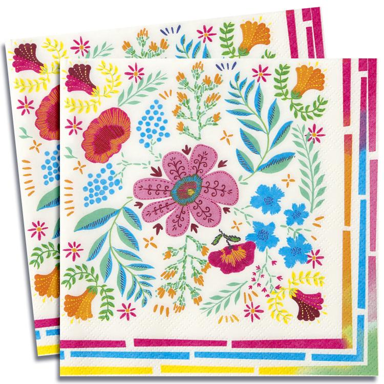 Boho Party - Floral Party Napkins (x20)