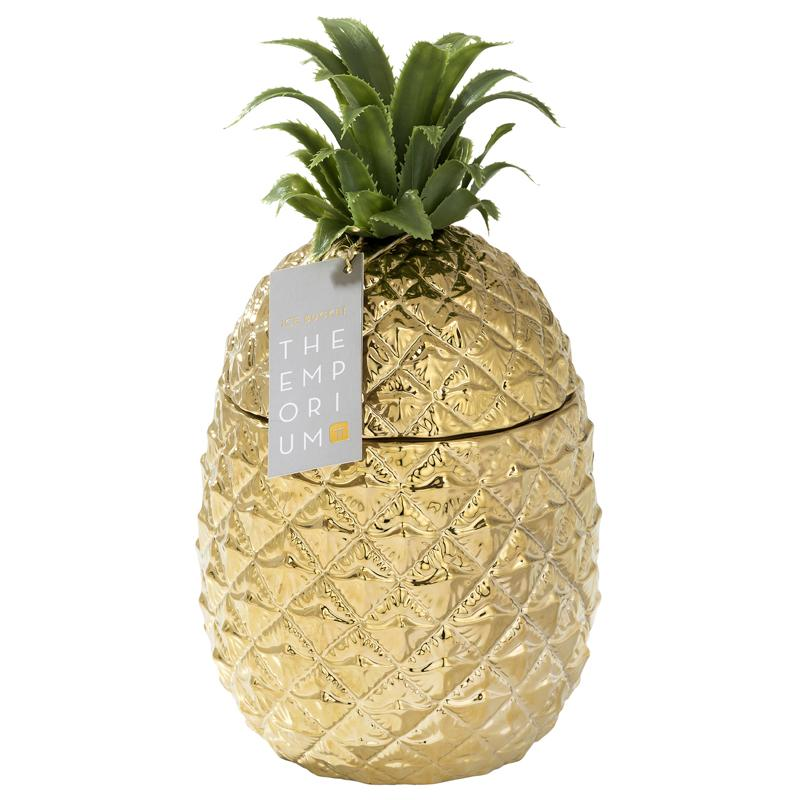 Tropical Party - Gold Pineapple Ice Bucket