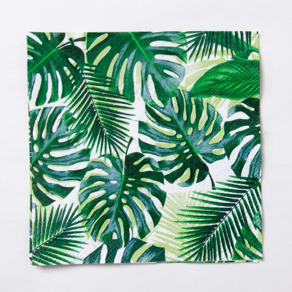 Click to view product details and reviews for Palm Leaf Cocktail Party Napkins X20.