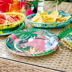 Tropical Fiesta Paper Party Plates (x12)