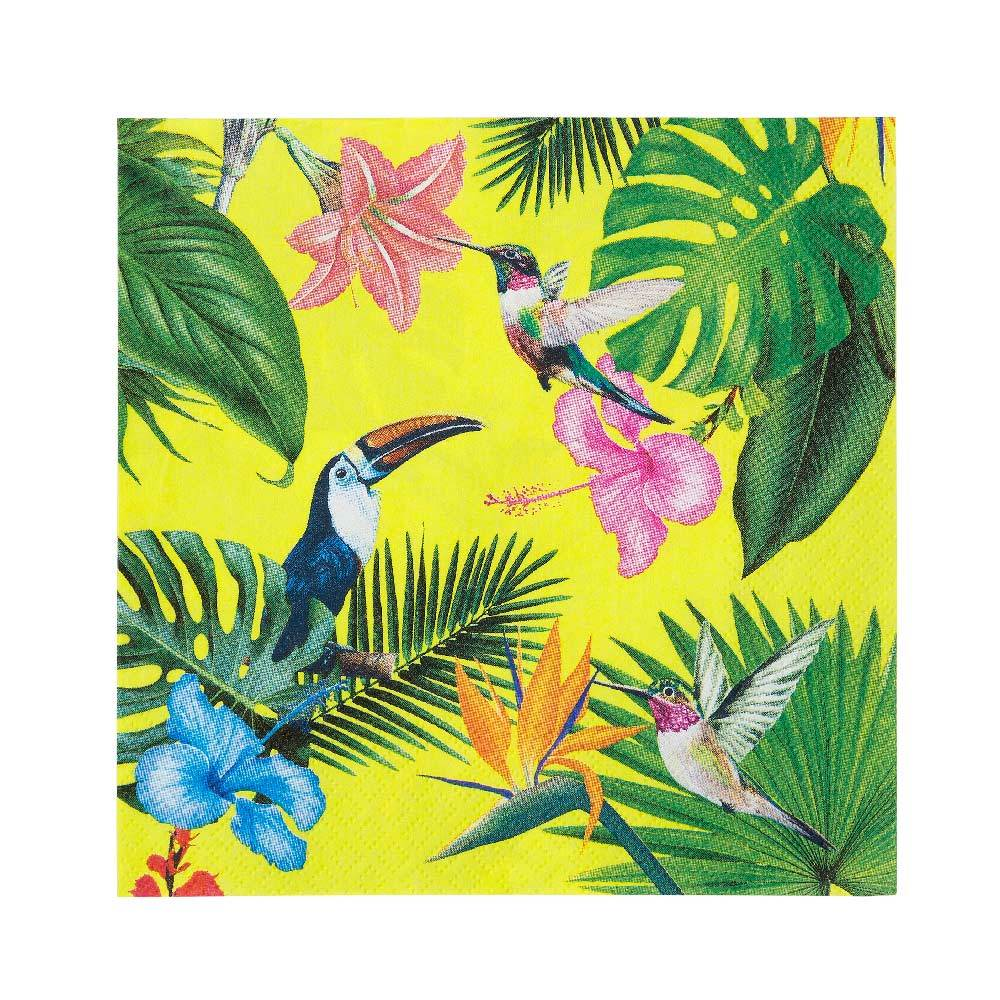 Tropical Fiesta Paper Party Napkins (x20)