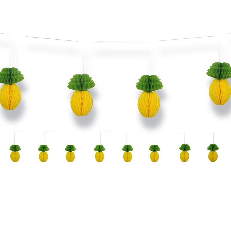 Tropical Party - Pineapple Honeycomb Garland