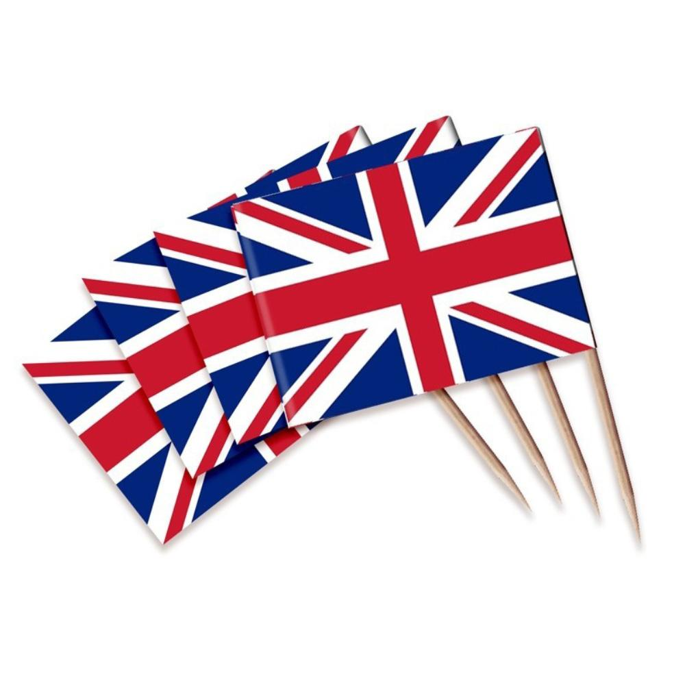 Union Jack Flag Picks (x30)
