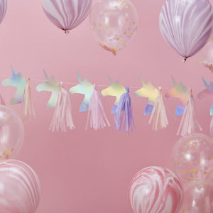 Make a Wish Unicorn Iridescent Tassel Garland