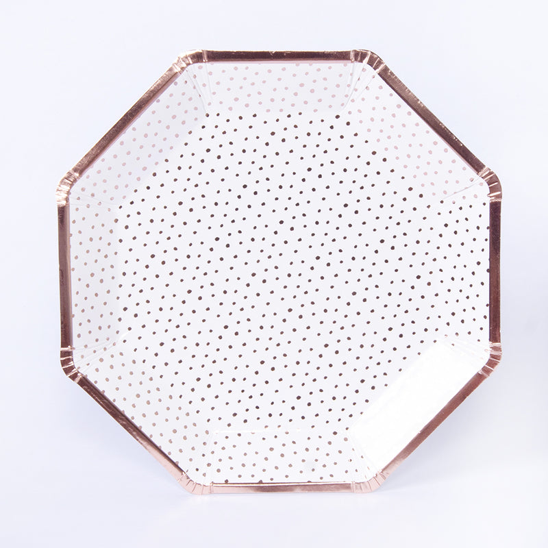 Pick and Mix Rose Gold Plates (x8)