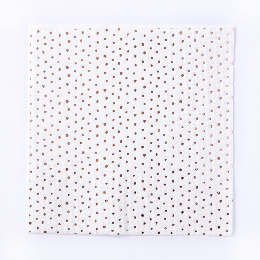 Pick and Mix Rose Gold Napkins (x16)