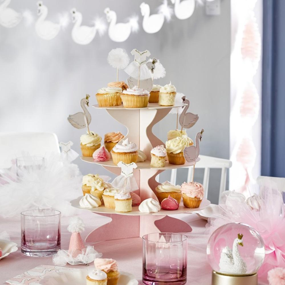 We Heart Reversible Pastel Cake Stand With Toppers