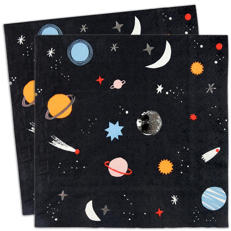 To the Moon Party Napkins (x16)