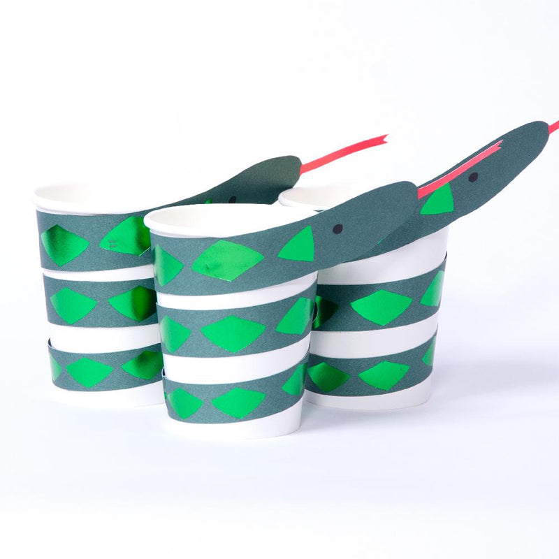 Go Wild Snake Paper Party Cups (x8)