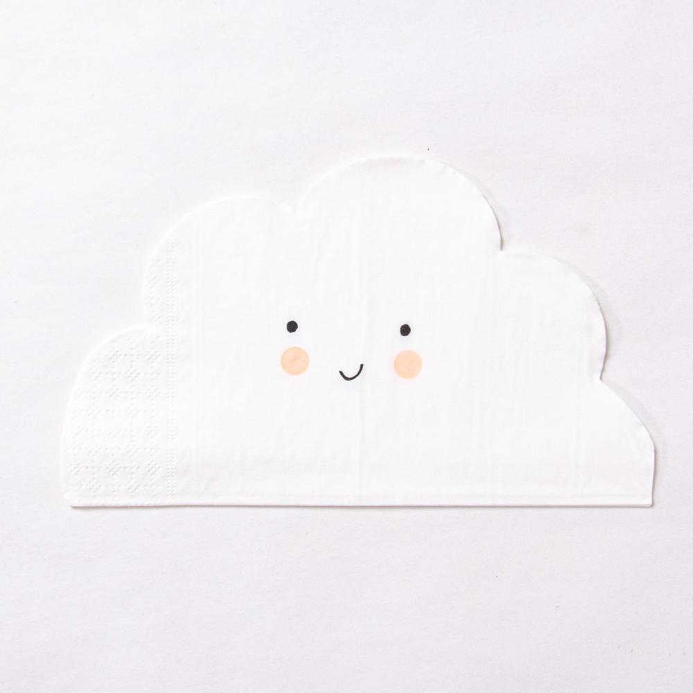 Happy Cloud Paper Party Napkins (x20)