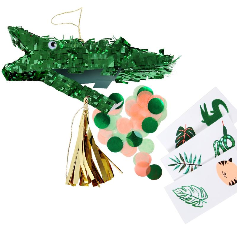 Go Wild Crocodile Mini Pinata Favours (x3)