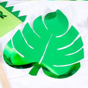 Green Palm Leaf Paper Party Plates (x8)