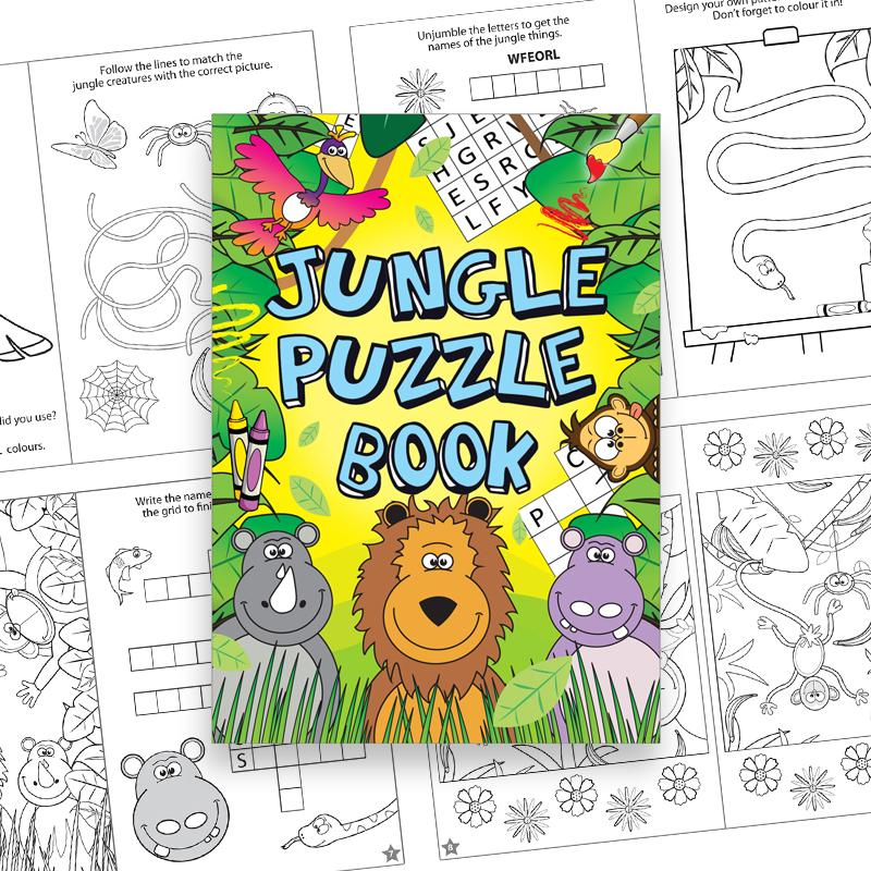 Jungle Puzzle Book (x6)