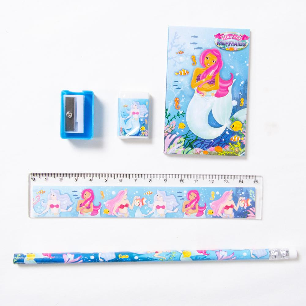 A mermaid party bag stationery set