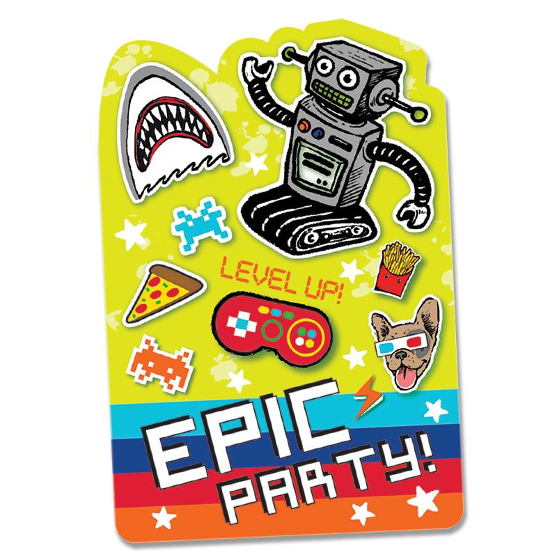 Epic Party Invitations (x8)