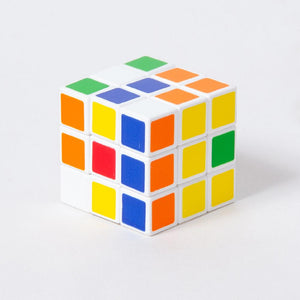A brightly-coloured puzzle cube