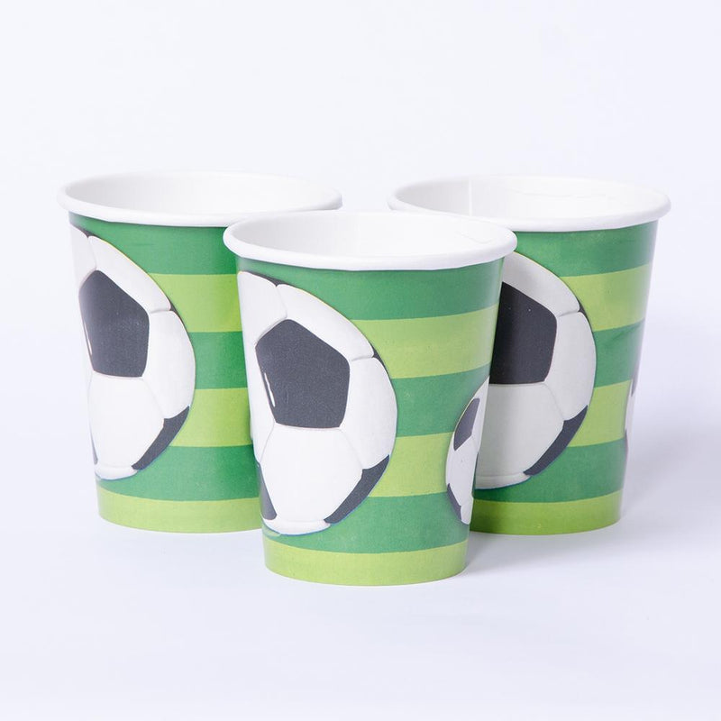 Football Paper Party Cups (x8)