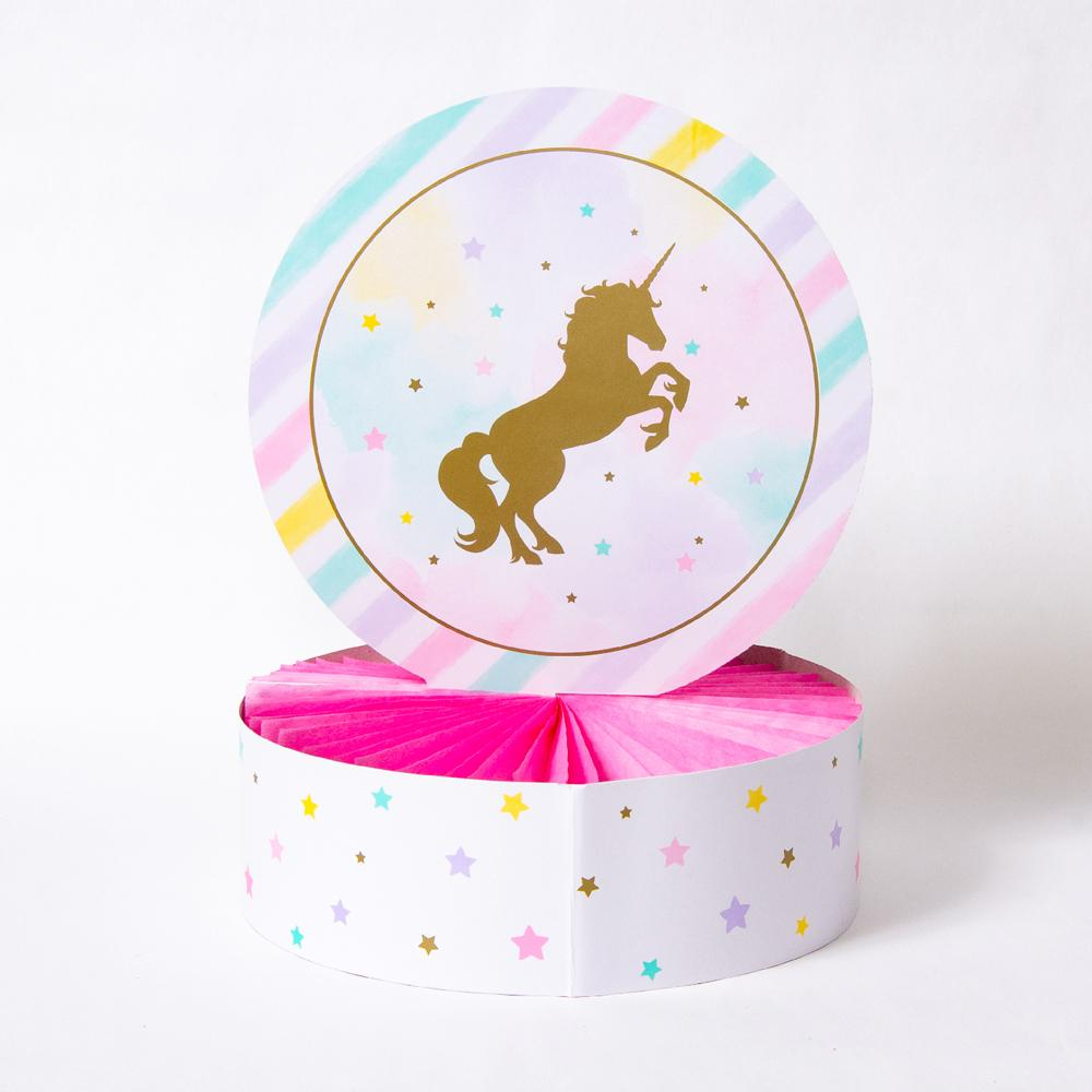 Unicorn Sparkle Honeycomb Centrepiece